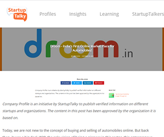 Droom - India's First Online Market Place for Automobiles!